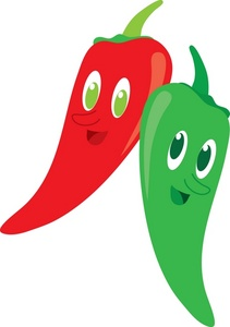 Clip Art Illustration Of Smiling Jalapeno Peppers Clipart Illustration