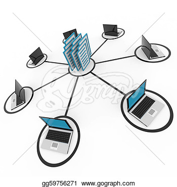 Computer Network Clipart Abstract Computer Network With