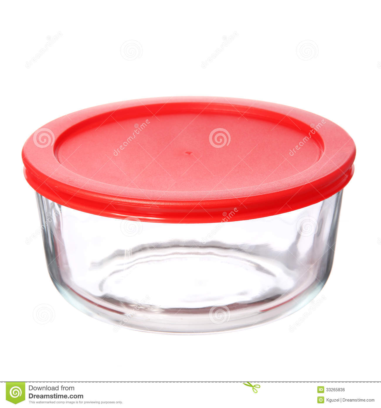 Food Container Clipart Glass Food Container With Red Plastic Lid On