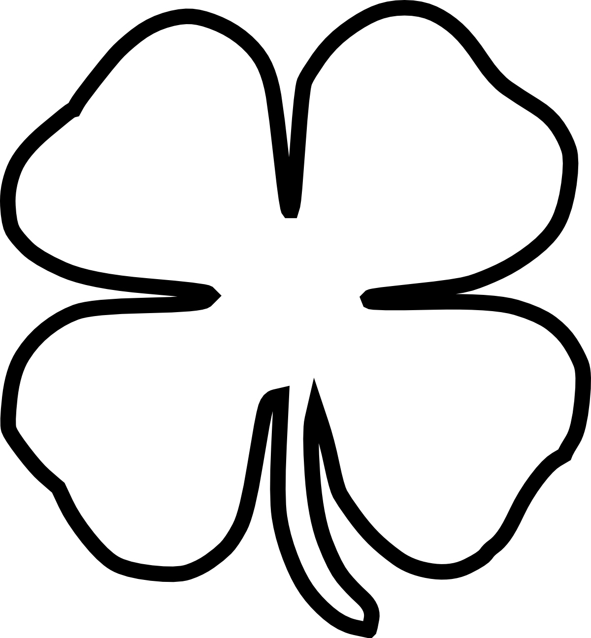 Free Four Leaf Clover Border Clipart