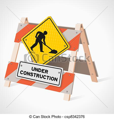 Highway Construction Clipart Under Construction Road Sign