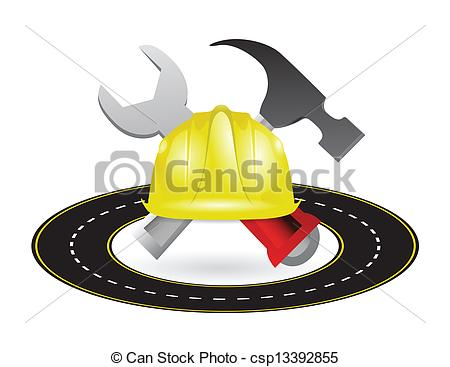 Highway Road Construction Illustration Design Construction