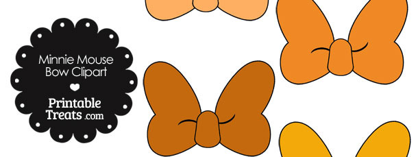 Minnie Mouse Bow Clipart In Shades Of Orange