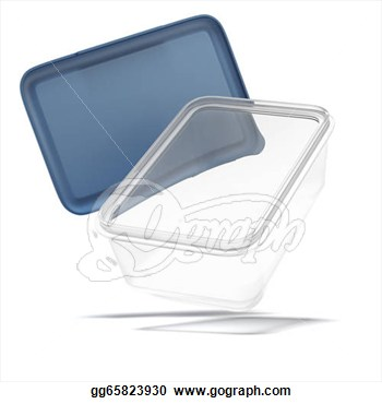Plastic Transparent Food Container  Clipart Illustrations Gg65823930