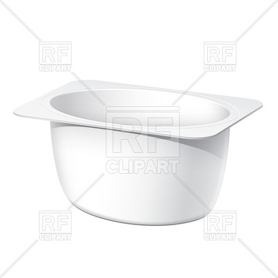 Realistic Blank Plastic Container For Yogurt Jams And Other Products