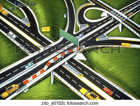 Stock Illustration   Highway Construction  Fotosearch   Search Clipart