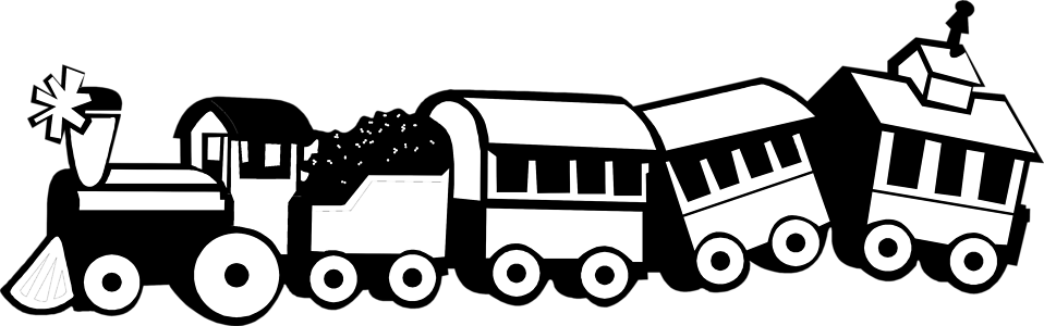 Clip Art Train Clipart Black And White toy train black and white clipart kid free stock photo illustration of a 7663