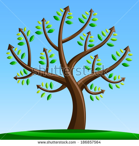 Tree With Arrows   Forward Moving   Progress   Financial   Achievement