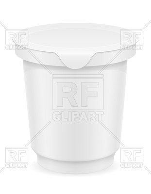 White Plastic Container Of Yogurt Or Ice Cream 70766 Download