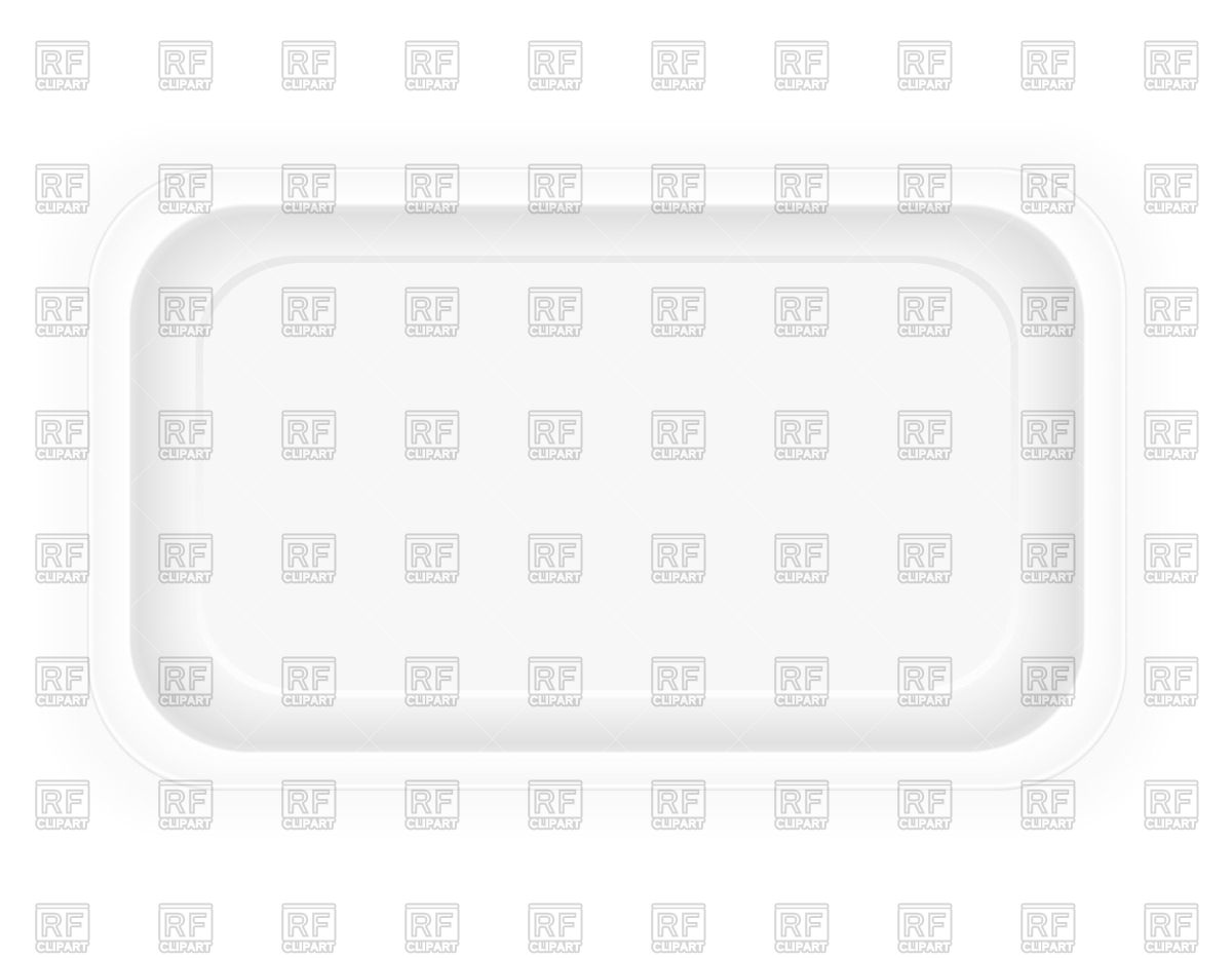 White Plastic Container Packaging For Food   View From Above 71055