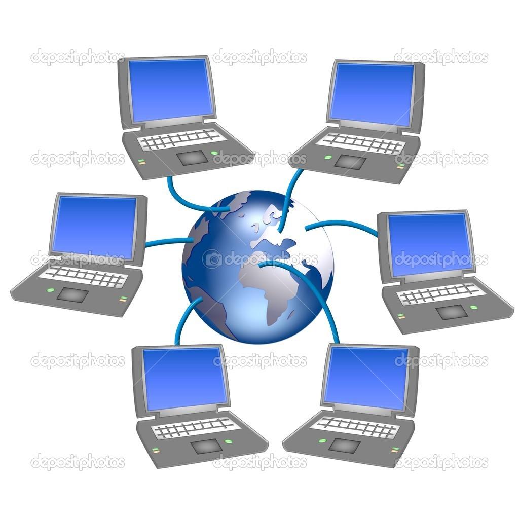 Worldwide Computer Network   Stock Image