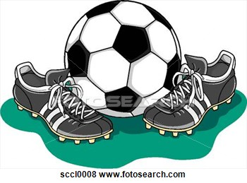 Clip Art   Soccer Ball   Shoes  Fotosearch   Search Clipart