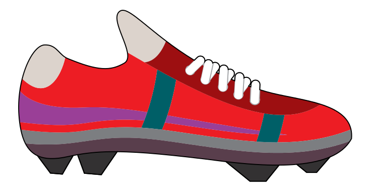 Free Red Soccer Shoe Clip Art