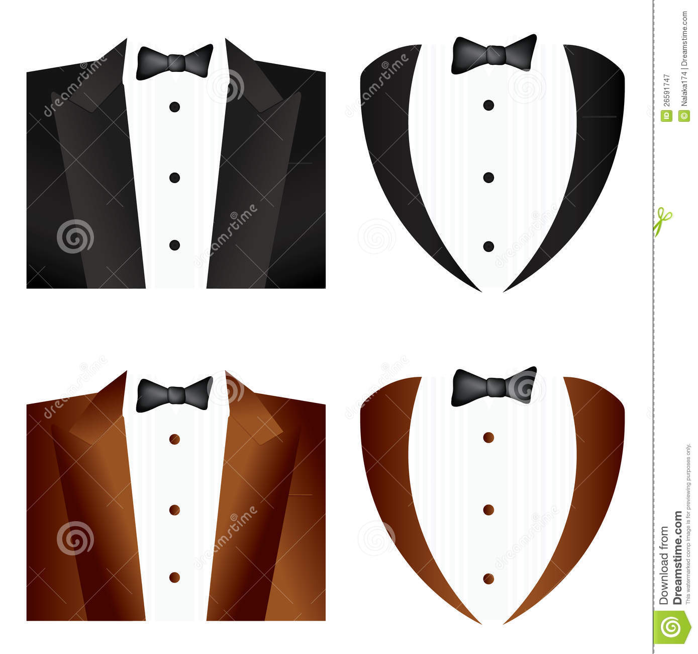 Free Stock Photography  Black And Brown Tie Tuxedo  Image  26591747