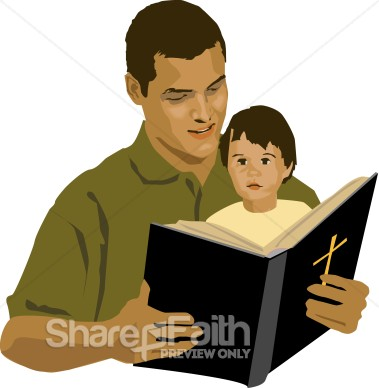 Person Reading Bible Clipart - Clipart Kid