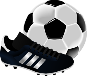 Soccer Ball And Shoe Clip Art At Clker Com   Vector Clip Art Online