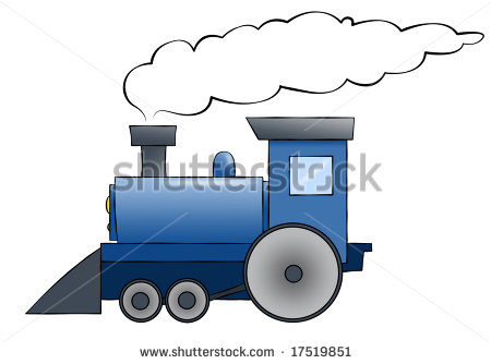 Train Chugging Along With Room For Text On The Train Or In The Smoke