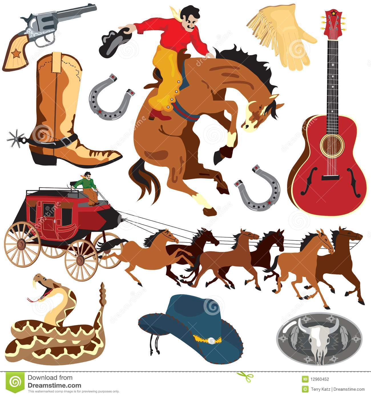 Wild West Clipart Icons Stock Photography   Image  12960452