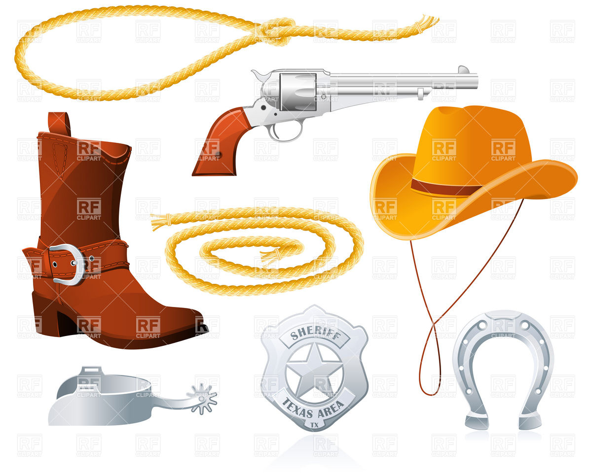 Wild West Cowboy Accessories And Clothes 6067 Download Royalty Free