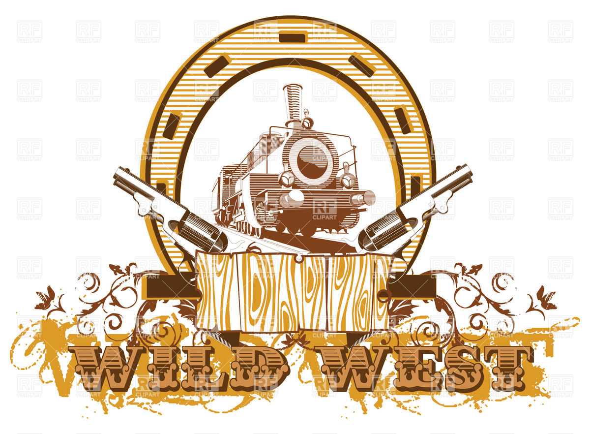 Wild West Theme With Locomotive And Guns 6157 Download Royalty Free