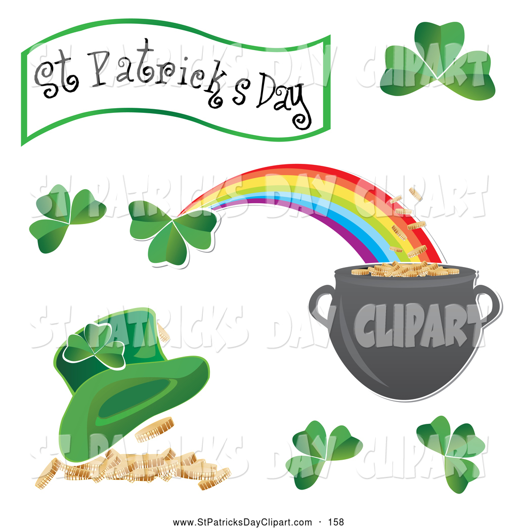 Clip Art Of A Digital Collage Of St Patricks Day Icons By Milsiart