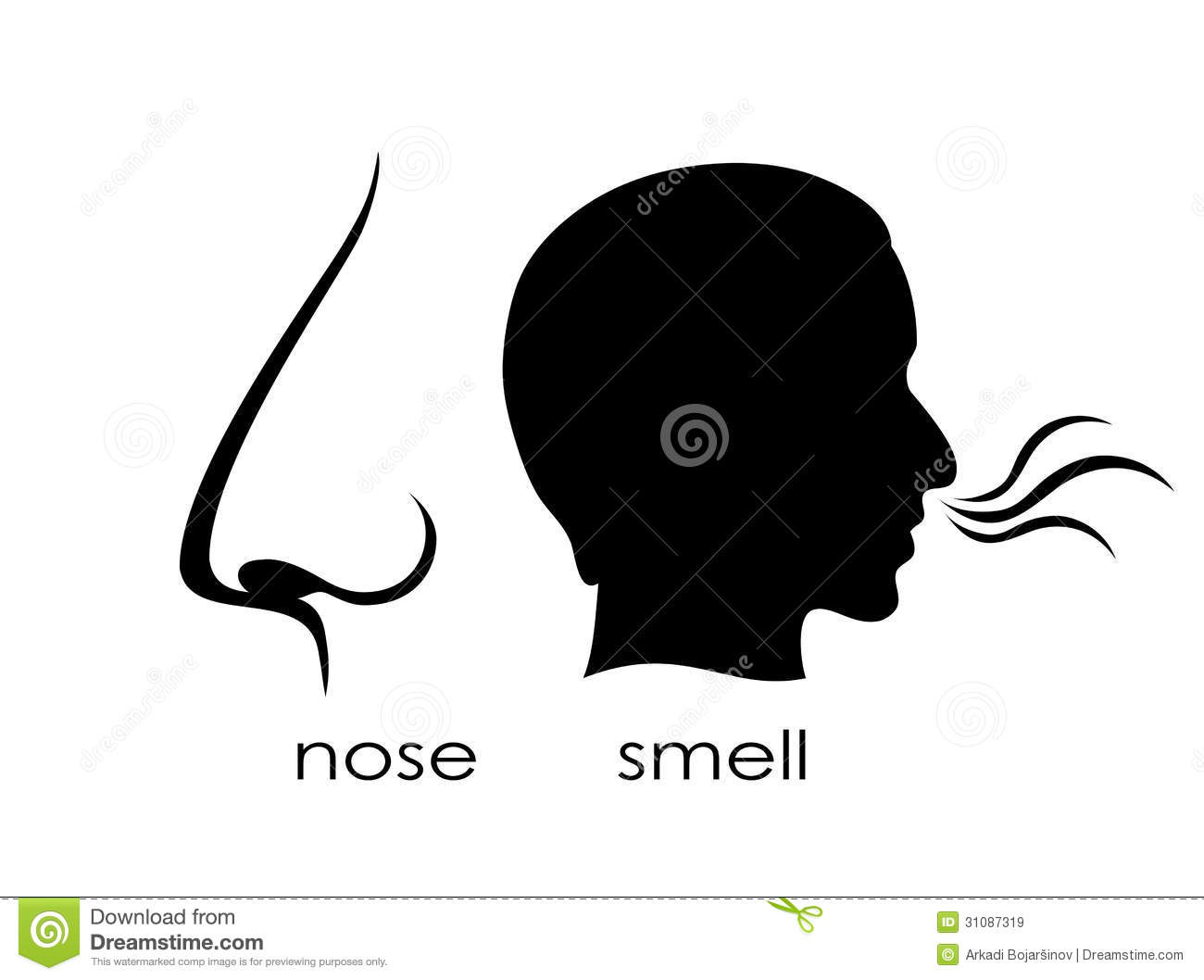 Clipart Nose Smelling Smell Stock Illustrations Vectors   Clipart
