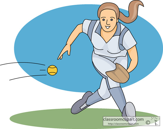 Clipart   Softball Player Catching Ball 02   Classroom Clipart