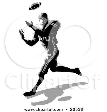 Player Running   Free Retro Sports Clipart Illustration By 0001144