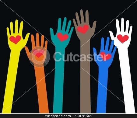 Reaching Arms Stock Vector Clipart Reaching Arms By Popocorn