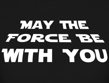 Star Wars   May The Force Be With You Logo   The Art Mad Wallpapers