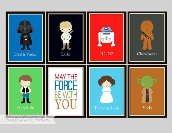 Star Wars Prints May The Force Be With You By Simplylovecreations  10