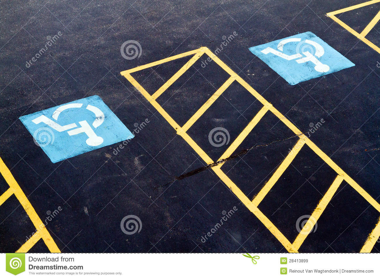 Two Handicapped Parking Spots Royalty Free Stock Images   Image