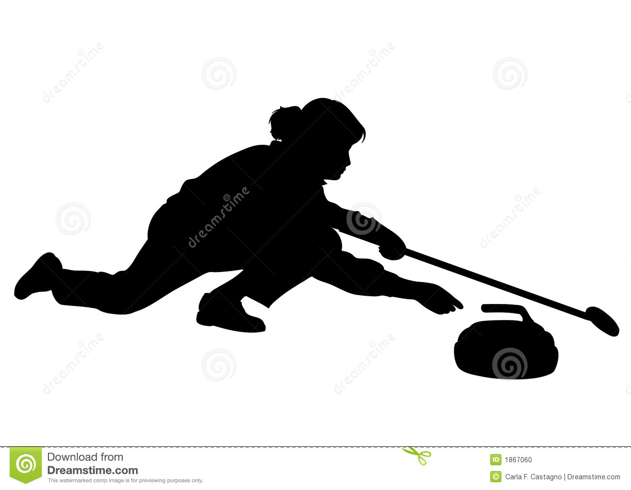 Curling Sport Cartoon Clipart - Clipart Suggest