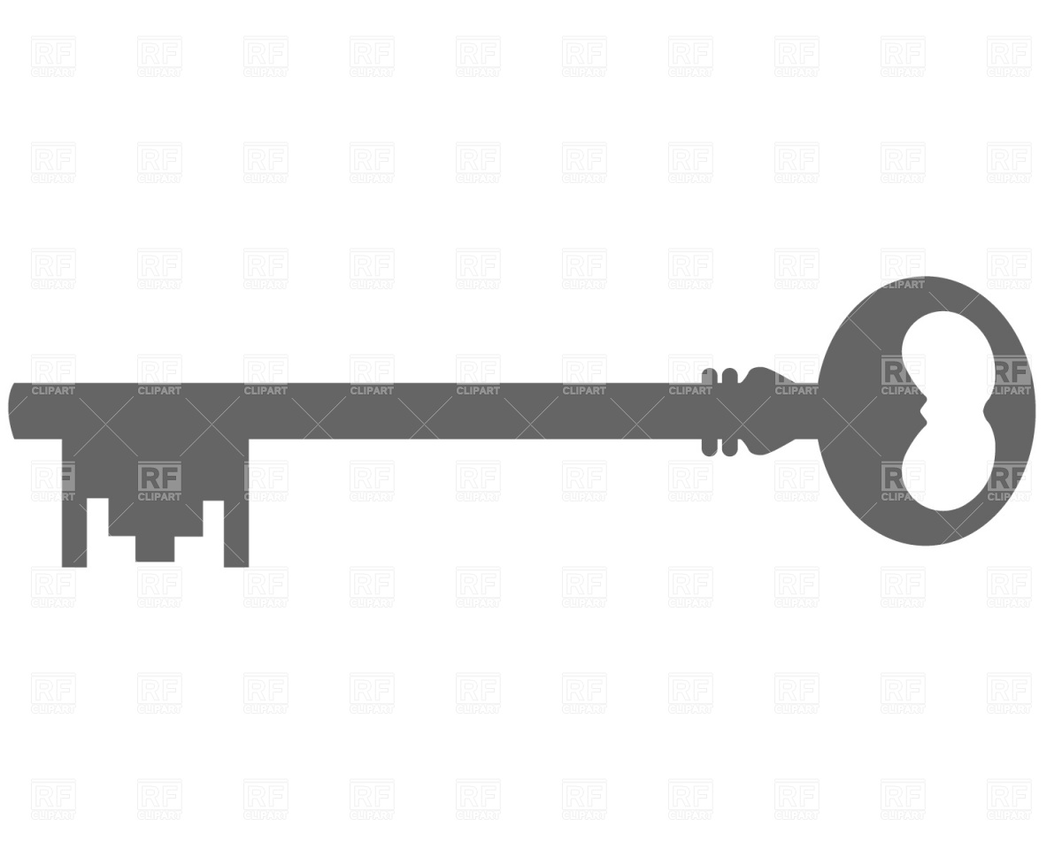 Antique Key Silhouette Download Royalty Free Vector Clipart  Eps
