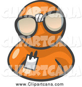 Art Of An Orange Man Wearing Nerdy Glasses Avatar By Leo Blanchette