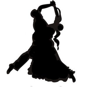 Ballroom Dancing Silhouette
