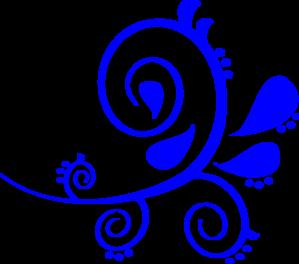 Blue Swirl Clip Art At Clker Com   Vector Clip Art Online Royalty