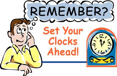 Image result for A REMINDER OF DAYLIGHT SAVINGS TIME