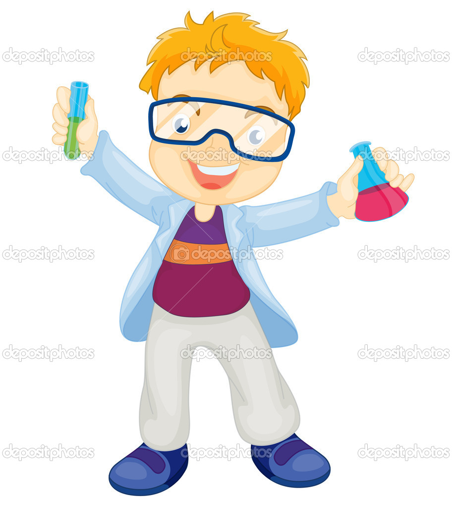 Kid Scientist Clipart A Kid Scientist Vector