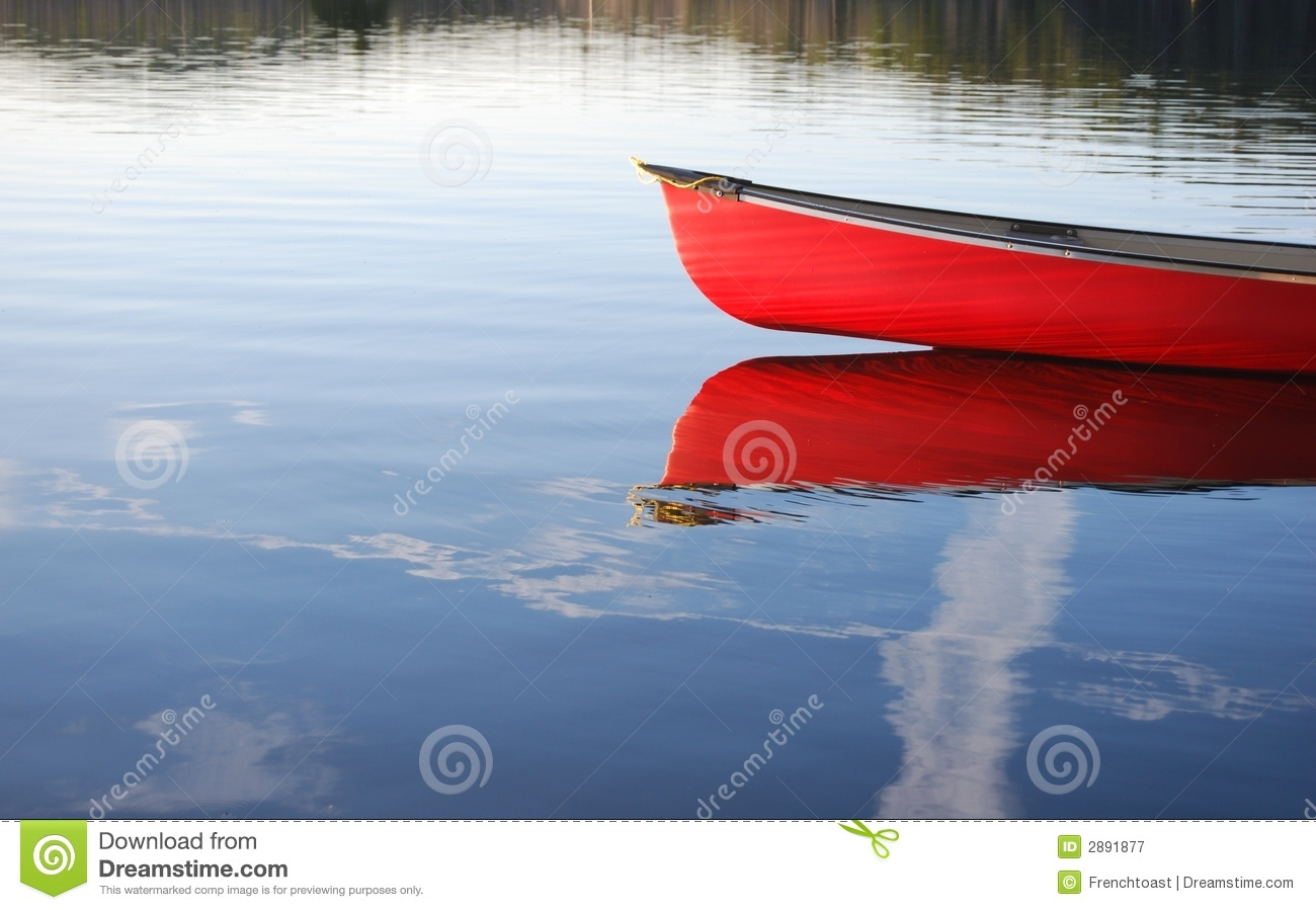 Red Canoe Royalty Free Stock Photography   Image  2891877