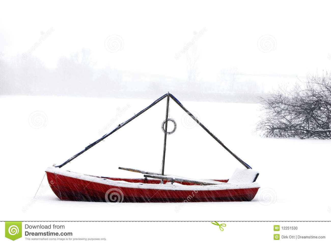 Red Canoe Stock Photo   Image  12251530