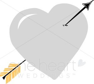 Silver Heart Clipart   Cupid Heart Images