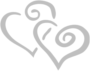 Silver Intertwined Hearts Clip Art At Clker Com   Vector Clip Art