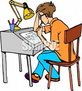 Student Doing Homework Clipart - Clipart Kid