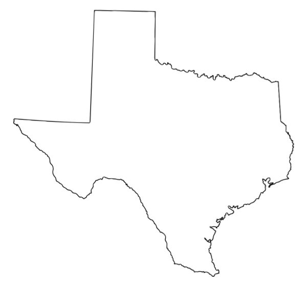 clipart map of texas - photo #28