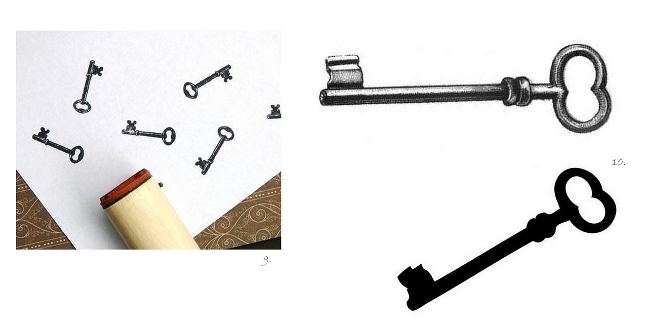 Vintage Key Clip Art Antique Key Clipart - ...