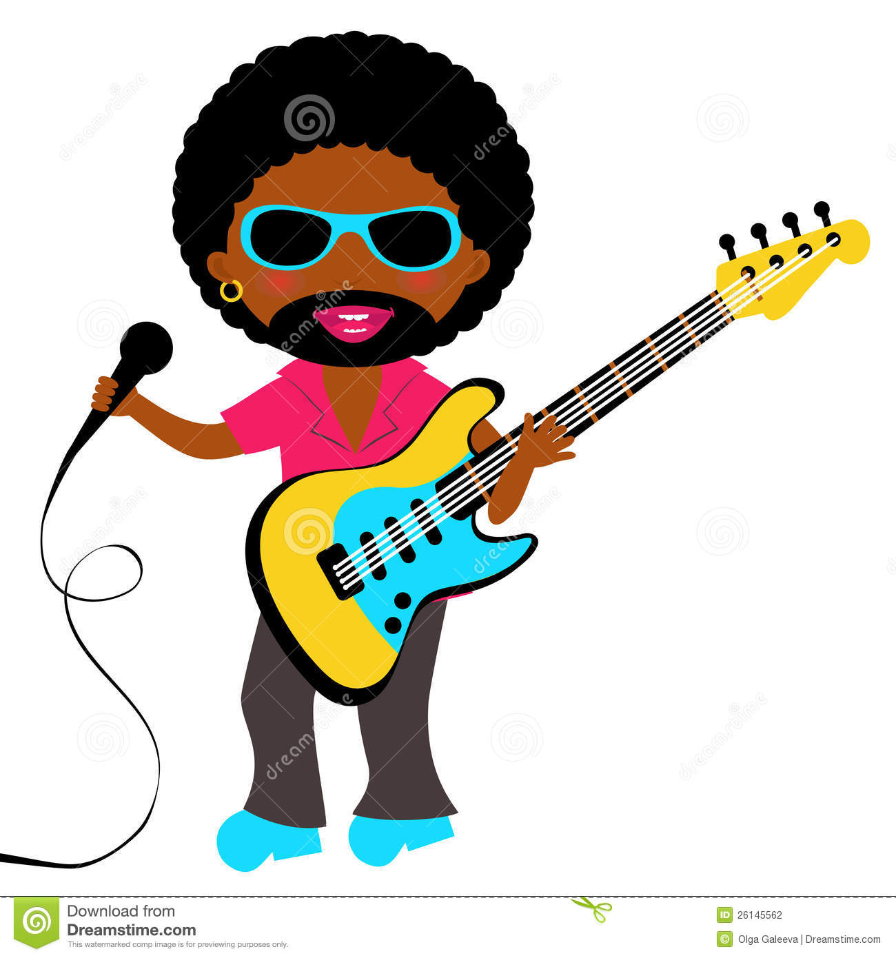 African   American Rock Star Stock Photography   Image  26145562
