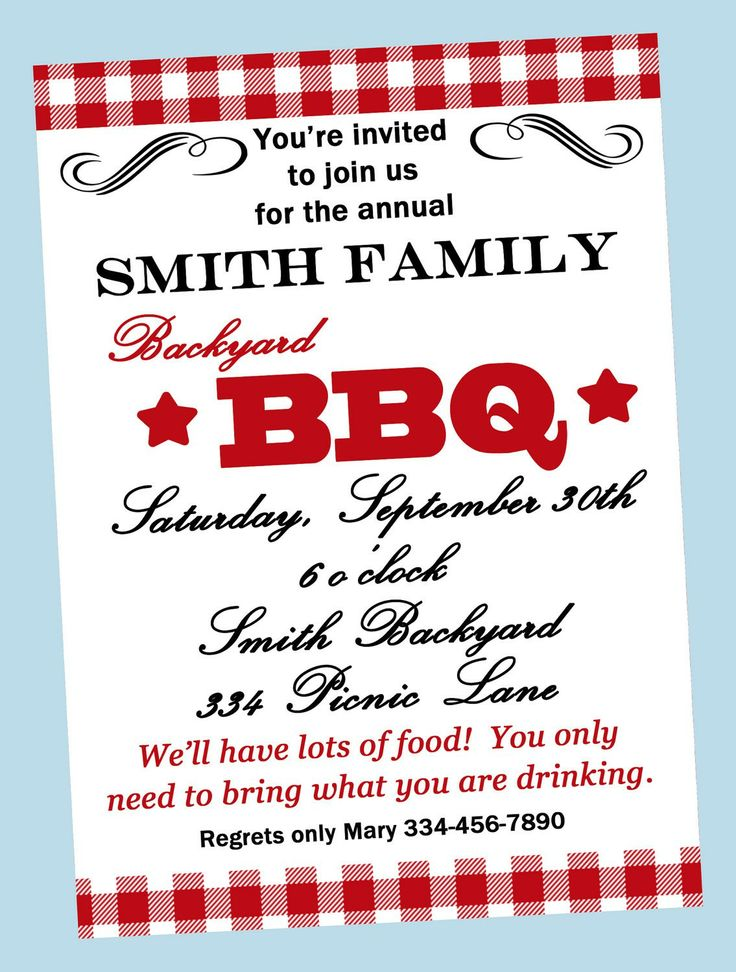 Bbq Invitations Wording Samples   Retirement Party   Pinterest