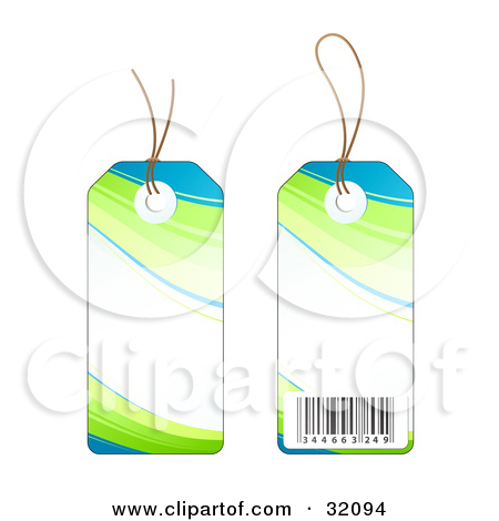 Blue Price Tag Clipart Clipart Illustration Of Two