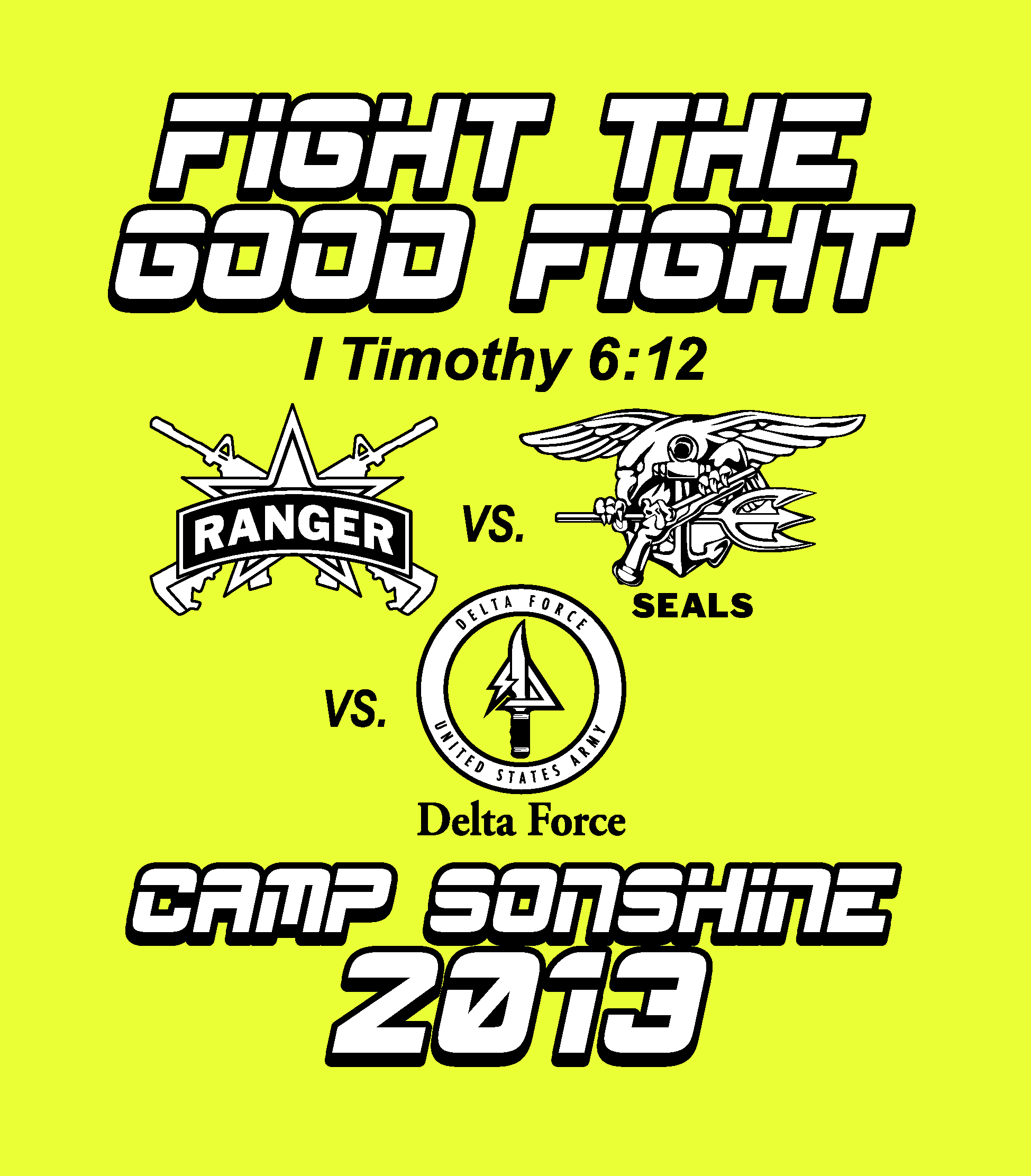 Camp Sonshine Summer Camp Tee First Free Will Baptist Church Melbourne
